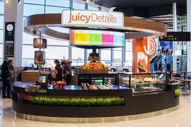 Juicy Details Kiosk